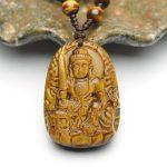 Phật bản mệnh Văn Thù Bồ Tát tuổi Mão – đá mắt hổ