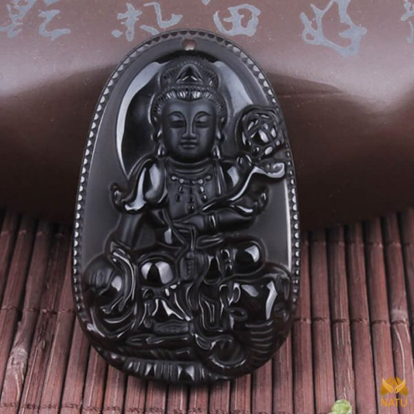 Mặt đá phong thủy Phật bản mệnh Phổ Hiền Bồ Tát – tuổi Thìn, Tỵ