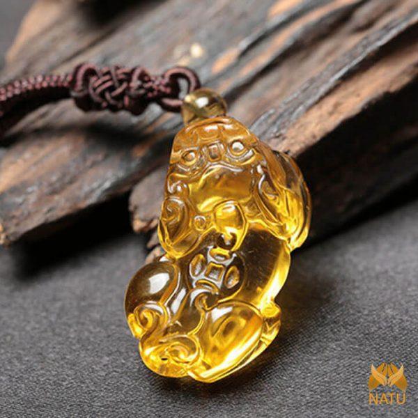 Tỳ hưu thạch anh vàng - Chiêu Tài Hút Lộc - mệnh Kim, Thổ